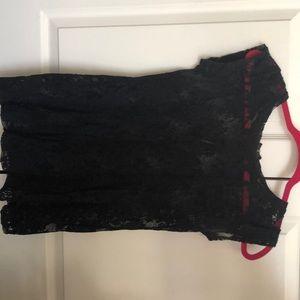 Splendid Black Lace Shirt